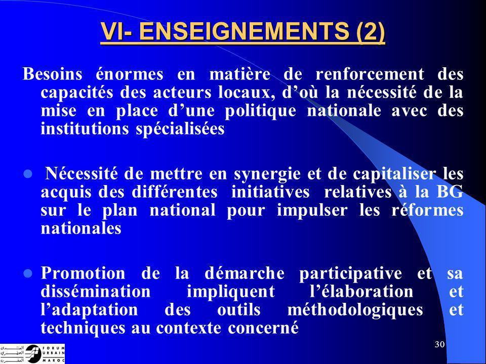 VI- ENSEIGNEMENTS (2)