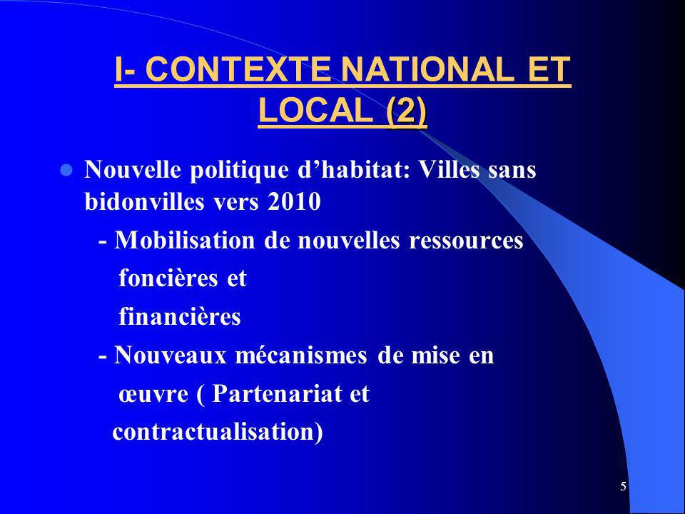 I- CONTEXTE NATIONAL ET LOCAL (2)