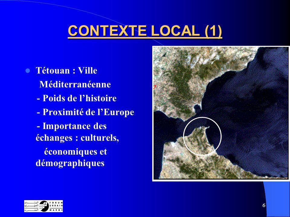 CONTEXTE LOCAL (1) Tétouan : Ville Méditerranéenne