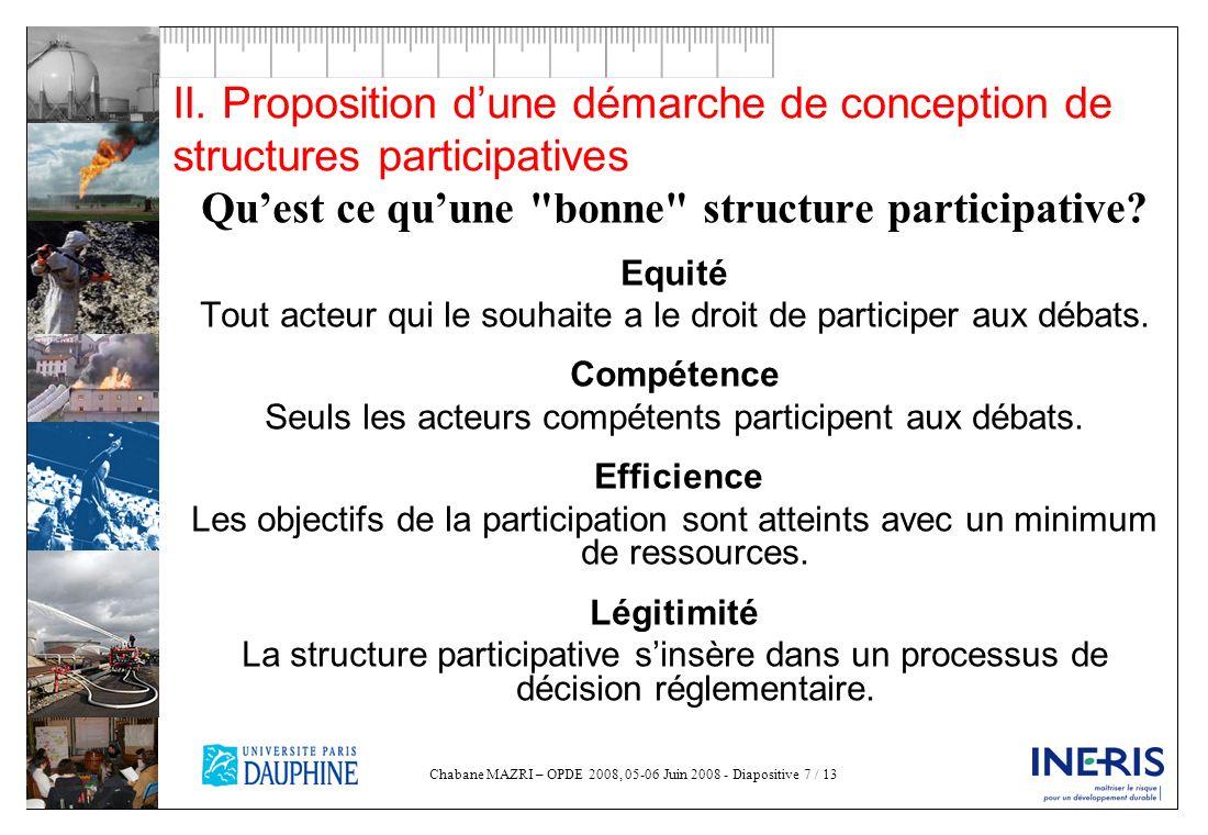 Qu'est ce qu'une bonne structure participative