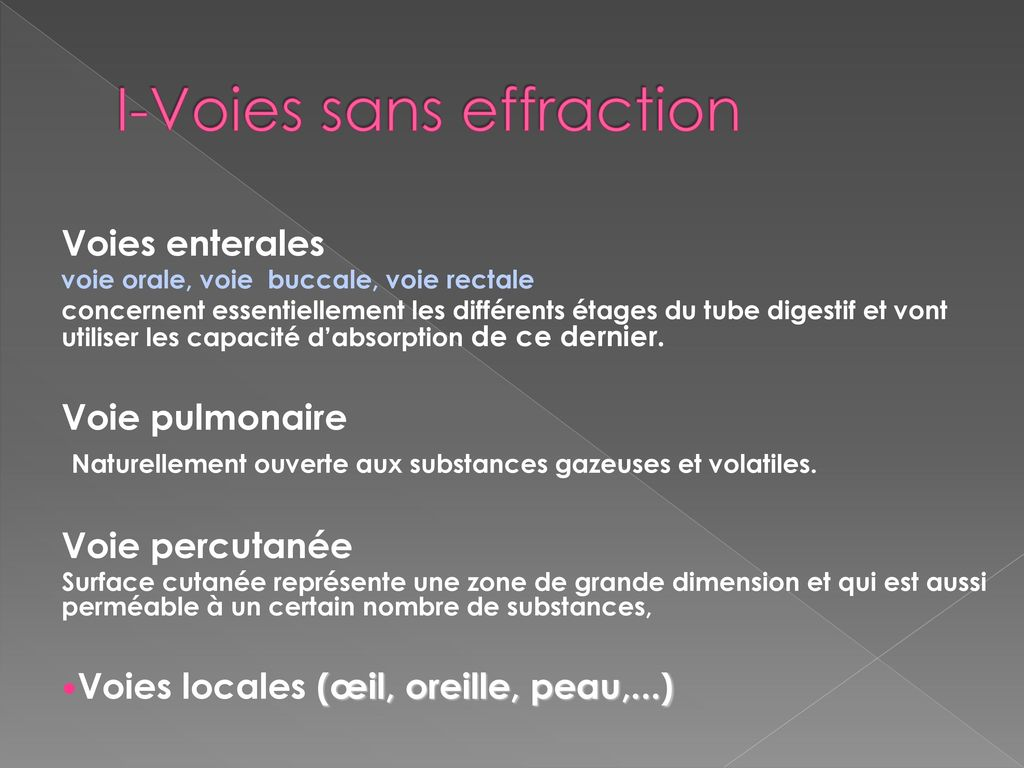 I-Voies sans effraction