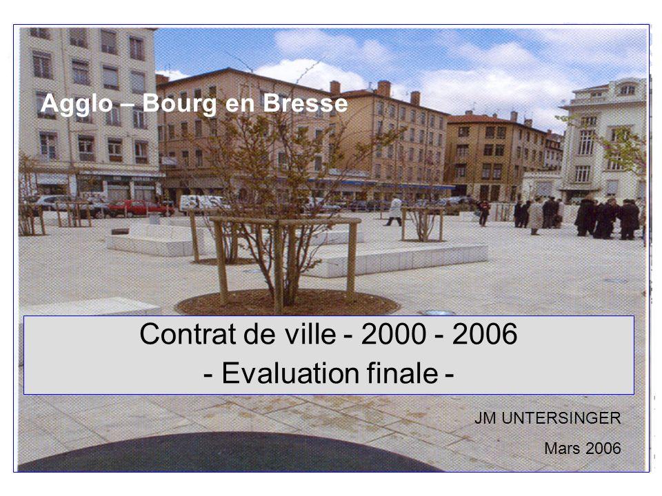 Contrat de ville - 2000 - 2006 - Evaluation finale -