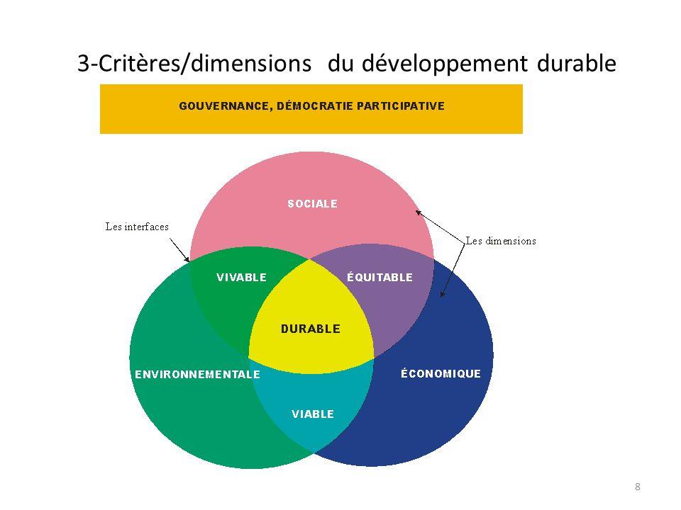 3-Critères/dimensions du développement durable
