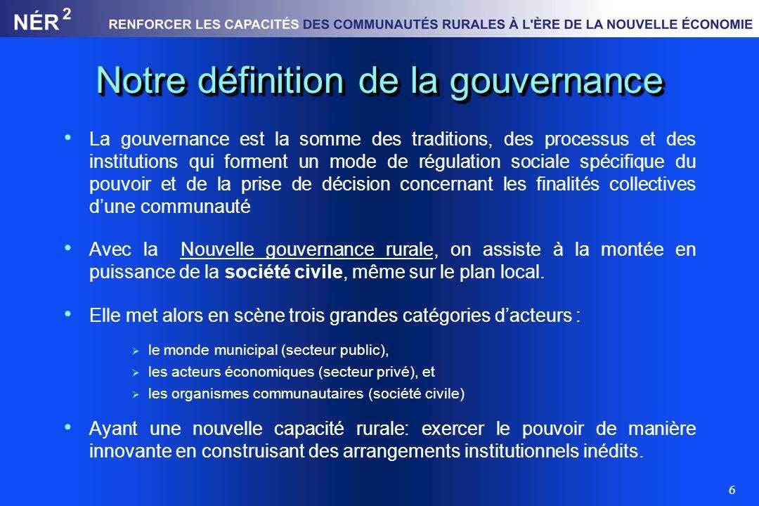 Notre définition de la gouvernance