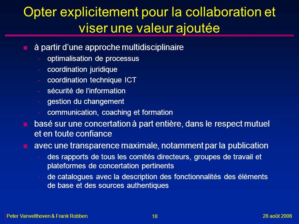 Opter explicitement pour la collaboration et viser une valeur ajoutée
