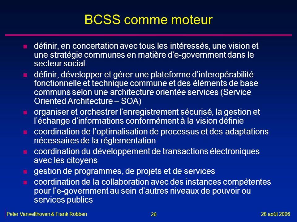 BCSS comme moteur