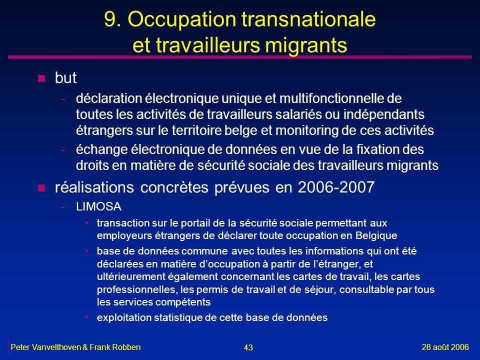 9. Occupation transnationale et travailleurs migrants