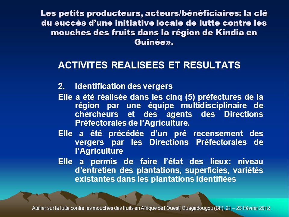ACTIVITES REALISEES ET RESULTATS