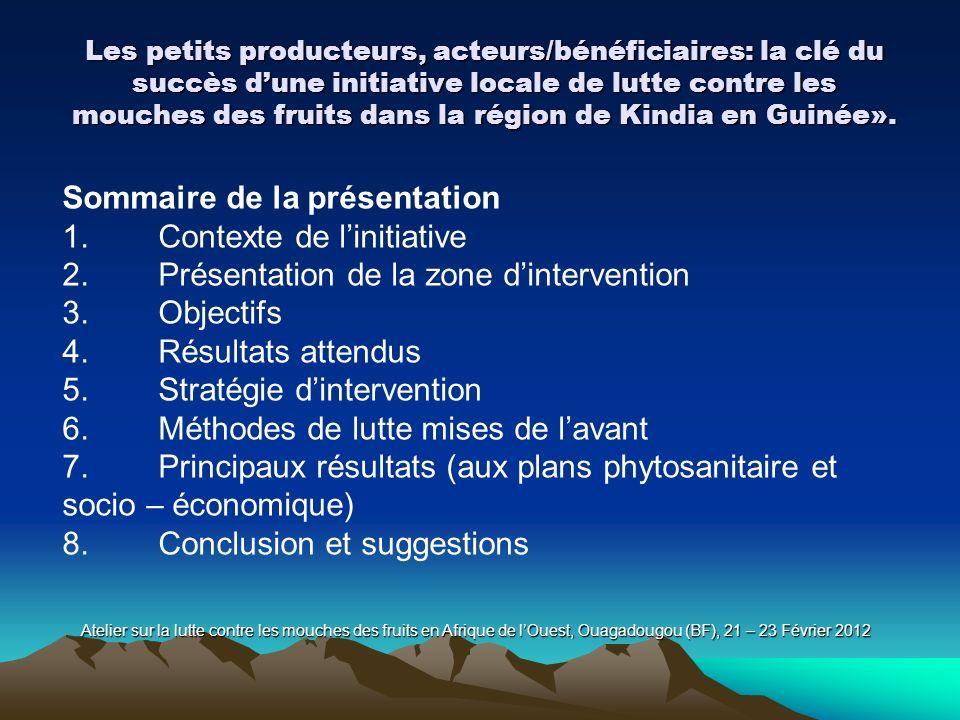Sommaire de la présentation 1. Contexte de l'initiative