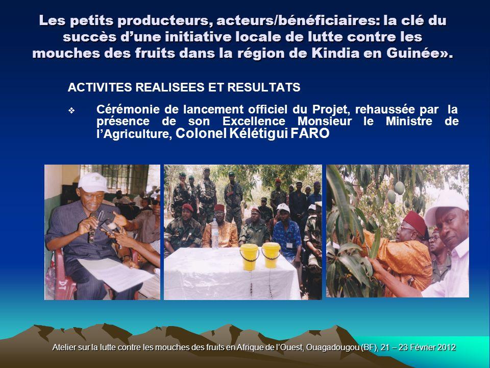 Les petits producteurs, acteurs/bénéficiaires: la clé du succès d'une initiative locale de lutte contre les mouches des fruits dans la région de Kindia en Guinée».