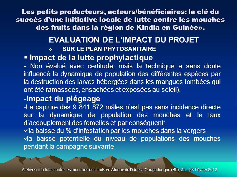 EVALUATION DE L'IMPACT DU PROJET SUR LE PLAN PHYTOSANITAIRE