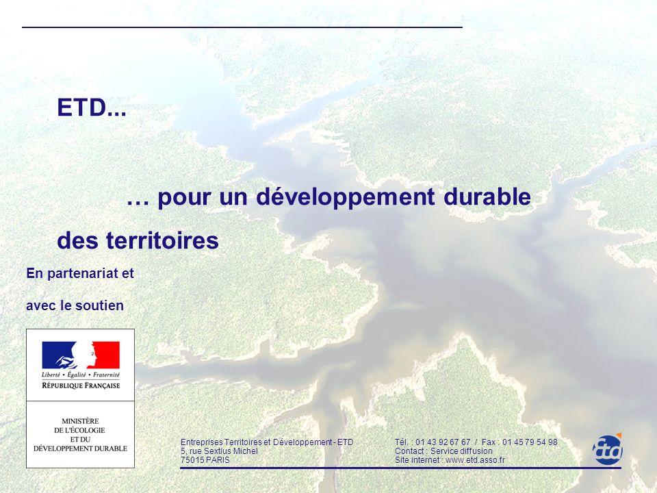 … pour un développement durable des territoires