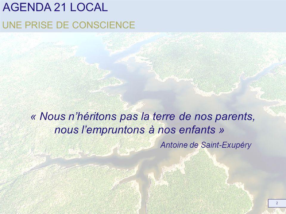 « Nous n'héritons pas la terre de nos parents,