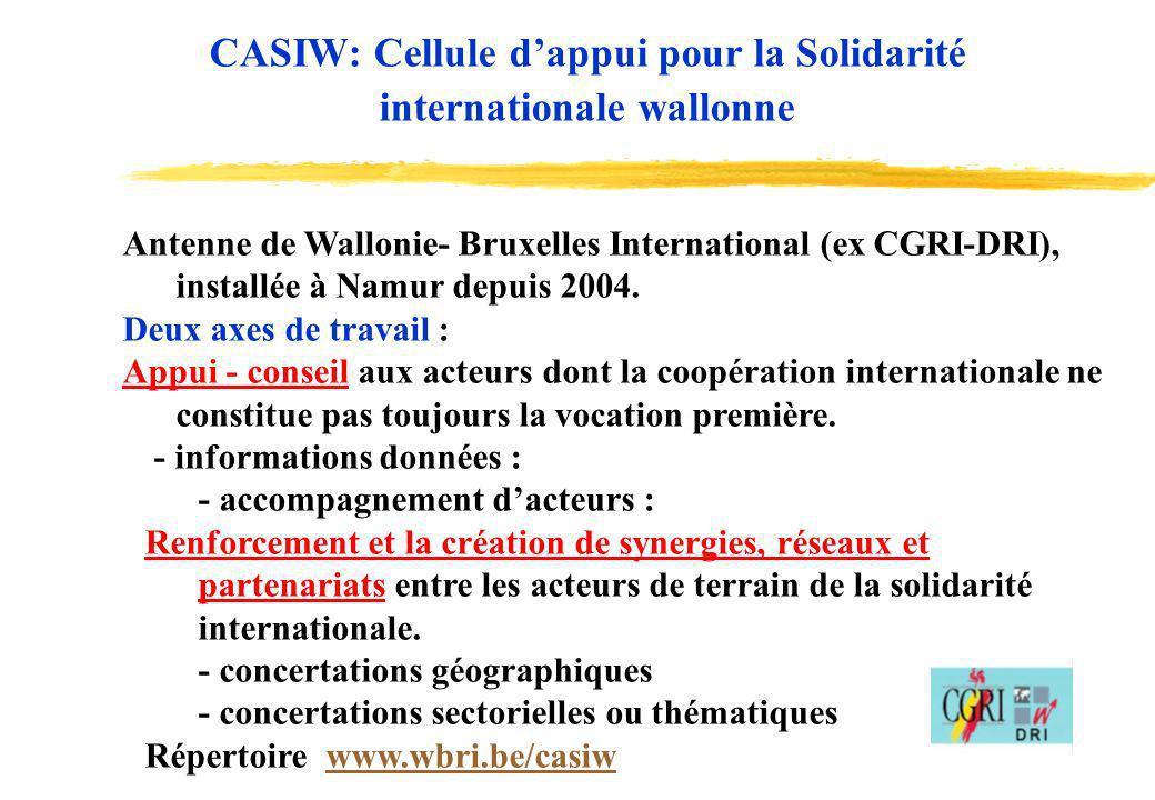 CASIW: Cellule d'appui pour la Solidarité internationale wallonne