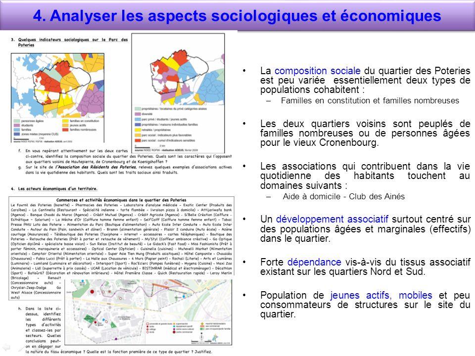 4. Analyser les aspects sociologiques et économiques