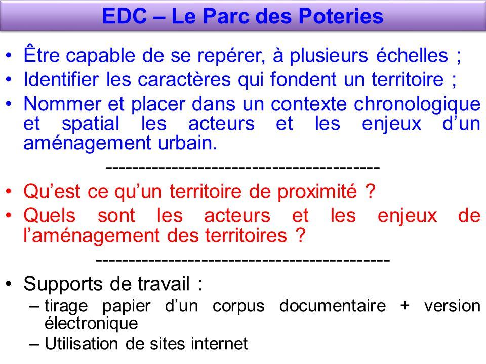 EDC – Le Parc des Poteries