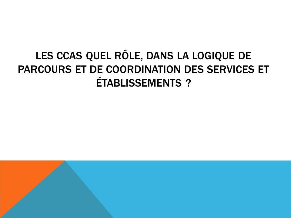 les CCAS quel rôle, dans la logique de parcours et de coordination des services et établissements