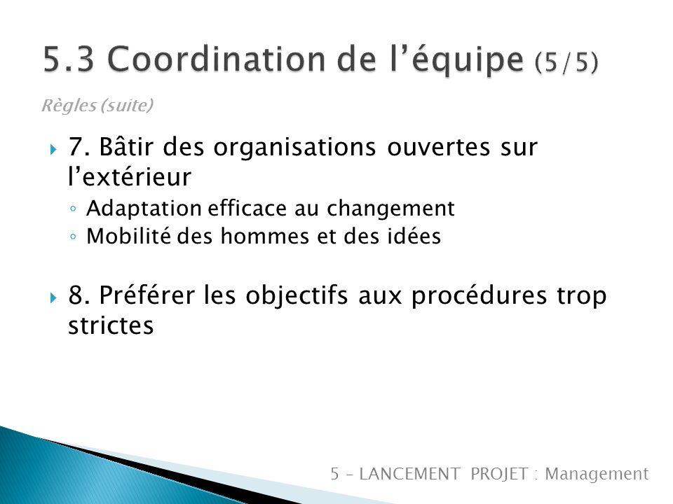 5.3 Coordination de l'équipe (5/5)