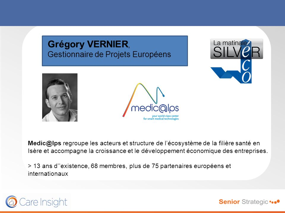 Grégory VERNIER, Gestionnaire de Projets Européens