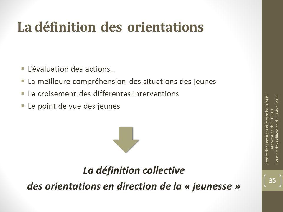 La définition des orientations