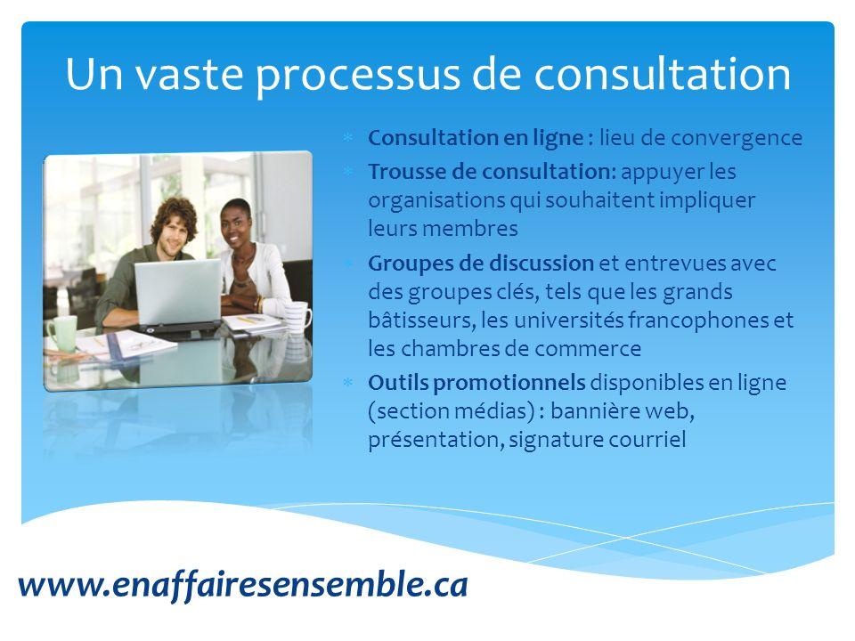 Un vaste processus de consultation