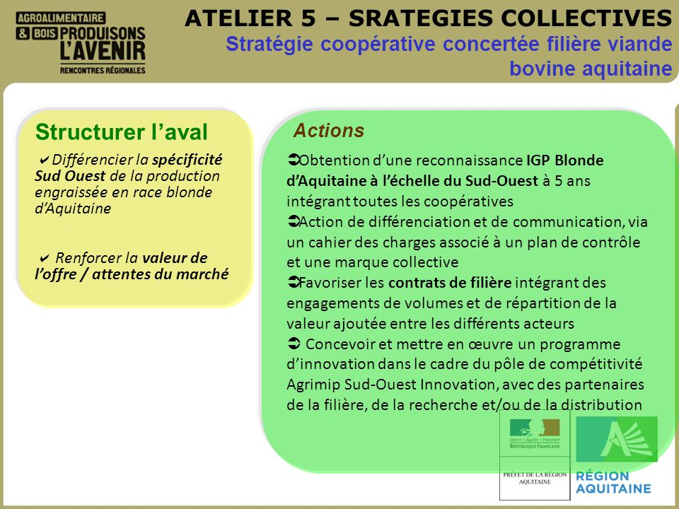 ATELIER 5 – SRATEGIES COLLECTIVES