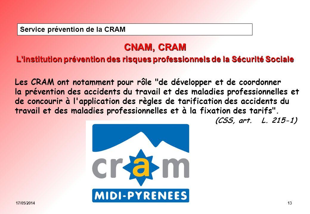 Service prévention de la CRAM