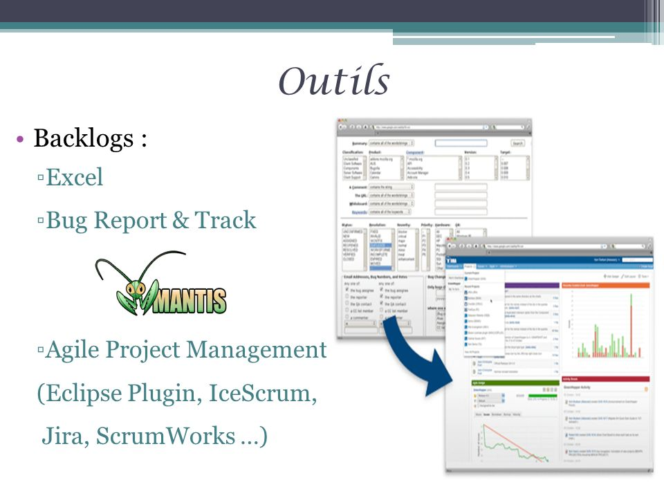 Outils Backlogs : Excel Bug Report & Track Agile Project Management