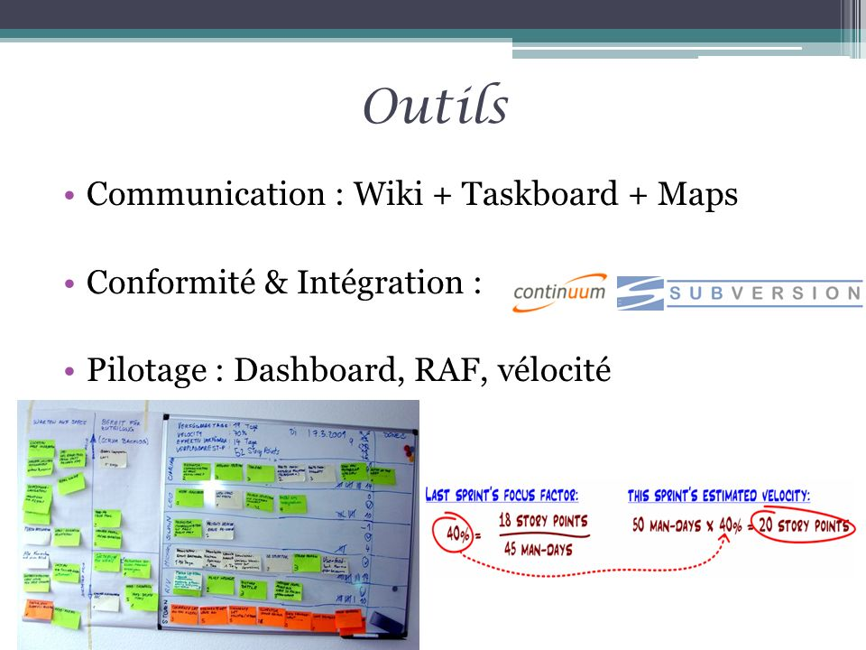 Outils Communication : Wiki + Taskboard + Maps