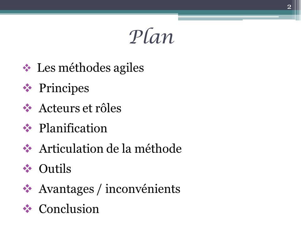 Plan Principes Acteurs et rôles Planification