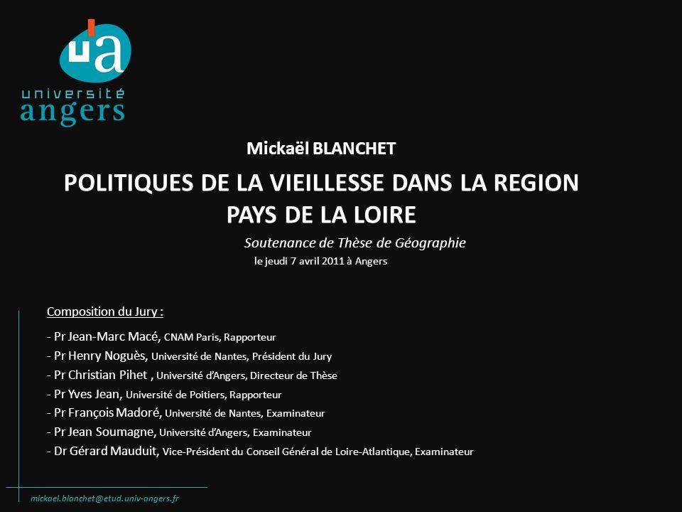 POLITIQUES DE LA VIEILLESSE DANS LA REGION PAYS DE LA LOIRE