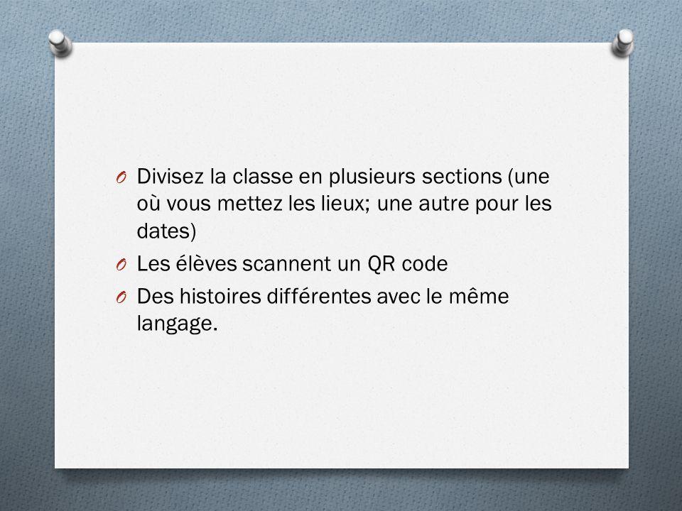 Divisez la classe en plusieurs sections (une où vous mettez les lieux; une autre pour les dates)
