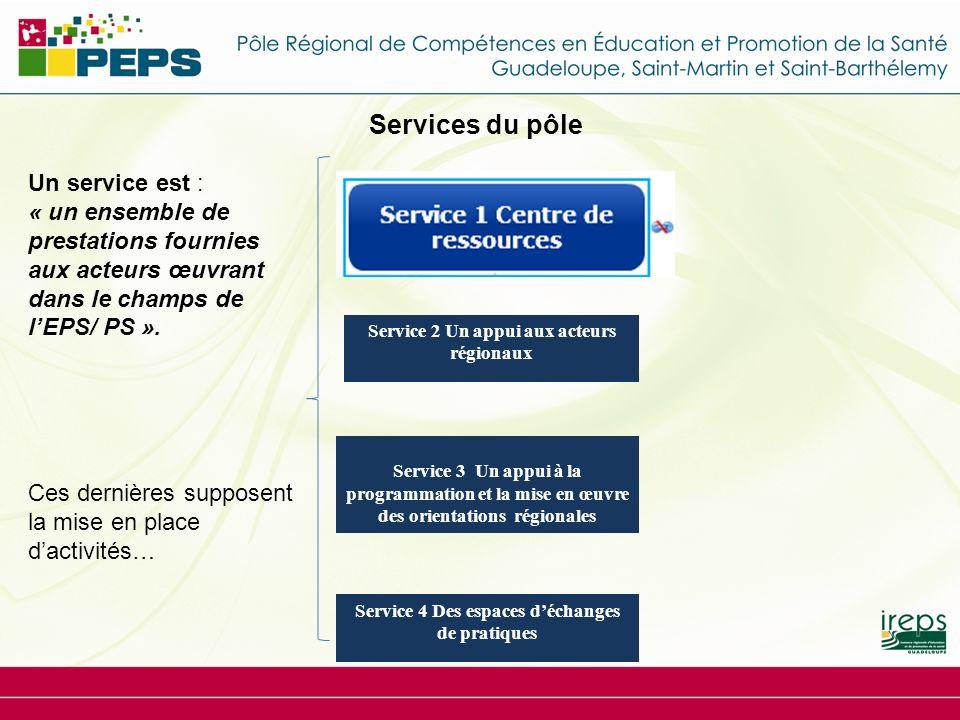 Services du pôle Un service est :