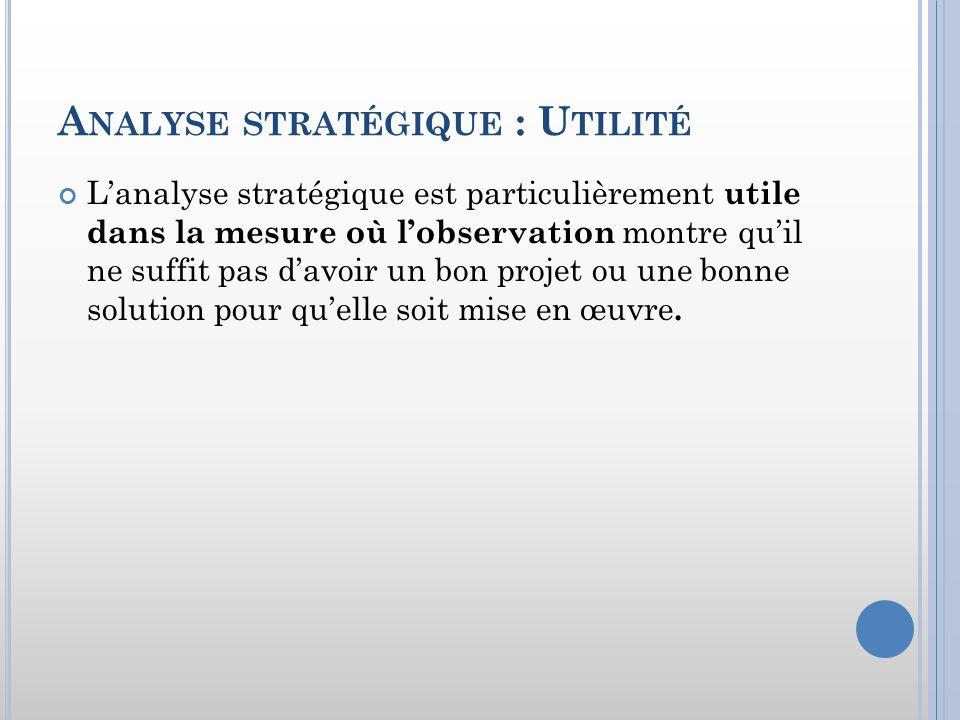 Analyse stratégique : Utilité