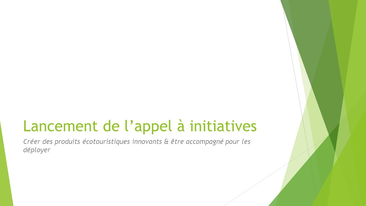 Lancement de l'appel à initiatives