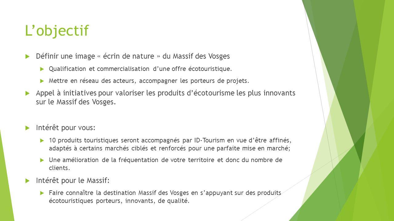 L'objectif Définir une image « écrin de nature » du Massif des Vosges