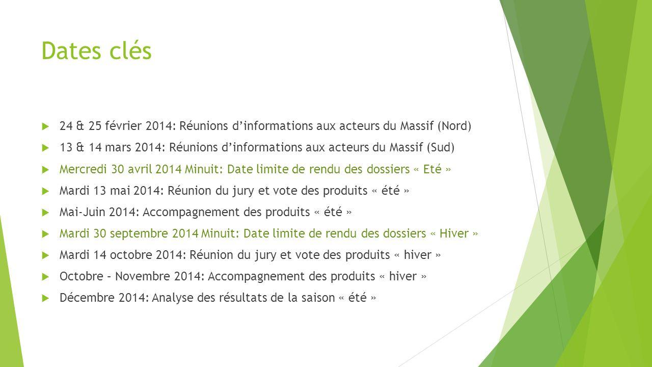 Dates clés 24 & 25 février 2014: Réunions d'informations aux acteurs du Massif (Nord)