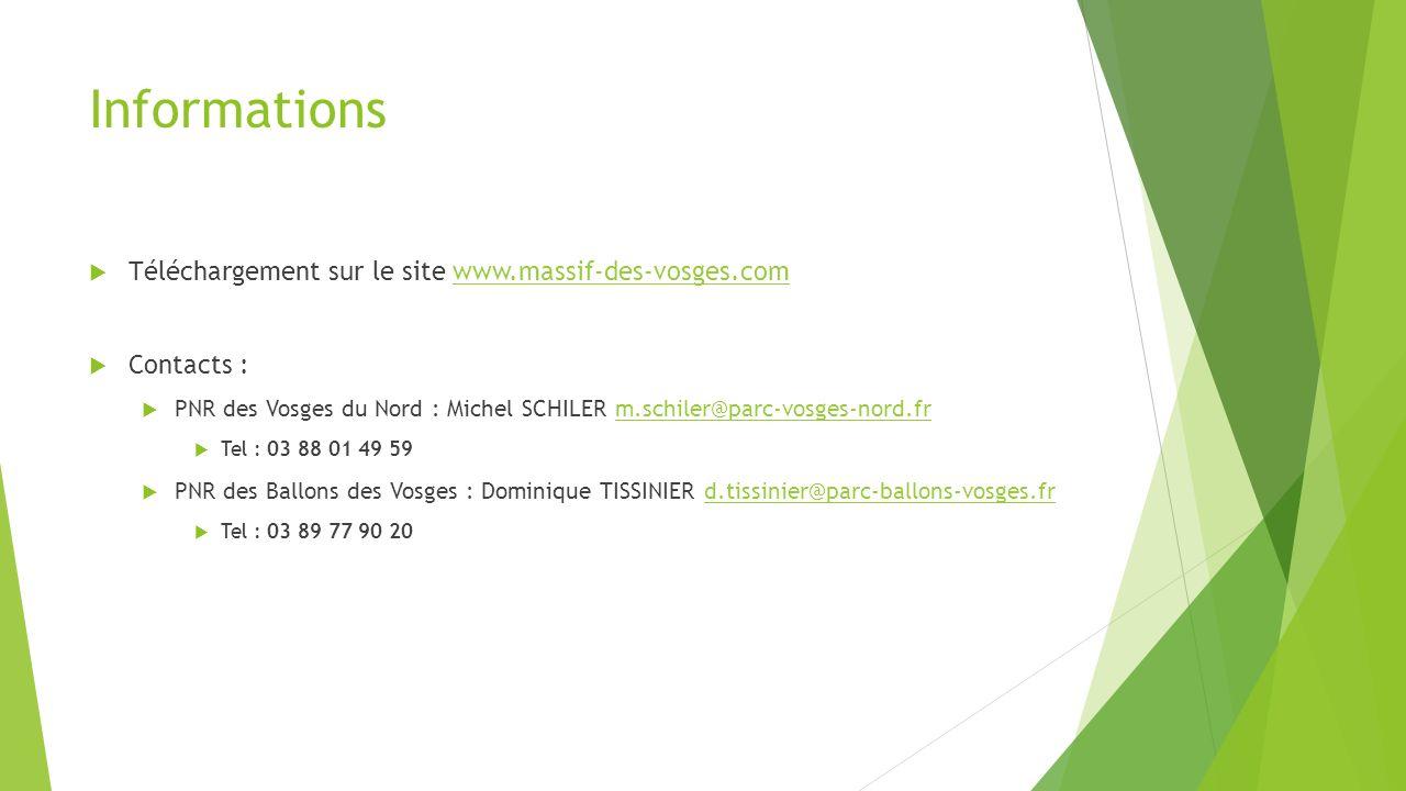 Informations Téléchargement sur le site www.massif-des-vosges.com