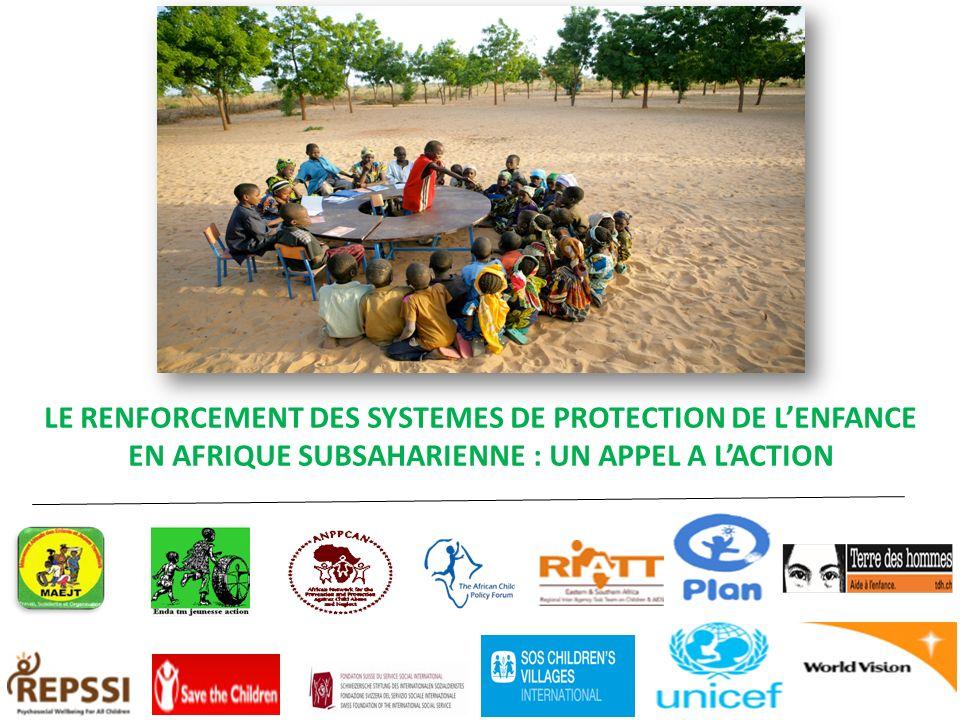 LE RENFORCEMENT DES SYSTEMES DE PROTECTION DE L'ENFANCE EN AFRIQUE SUBSAHARIENNE : UN APPEL A L'ACTION