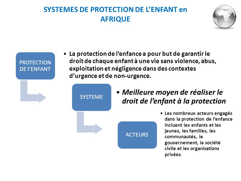 SYSTEMES DE PROTECTION DE L'ENFANT en AFRIQUE