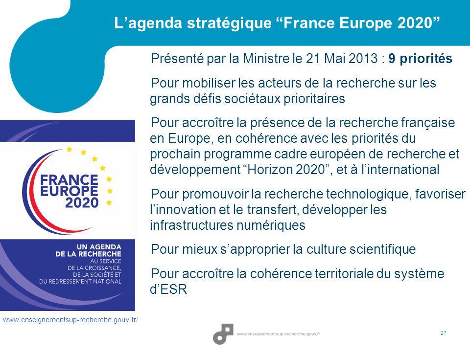 L'agenda stratégique France Europe 2020