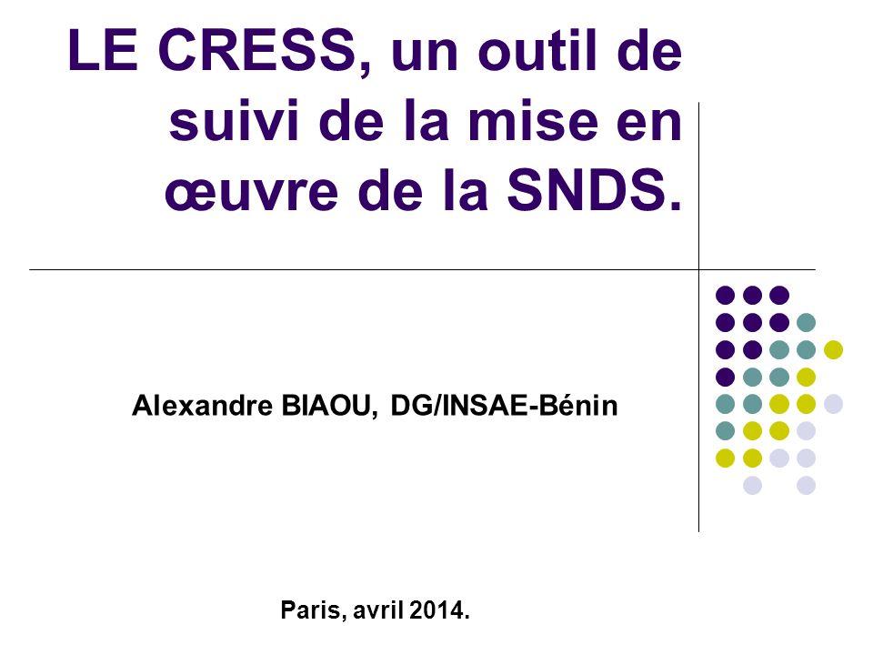 LE CRESS, un outil de suivi de la mise en œuvre de la SNDS.