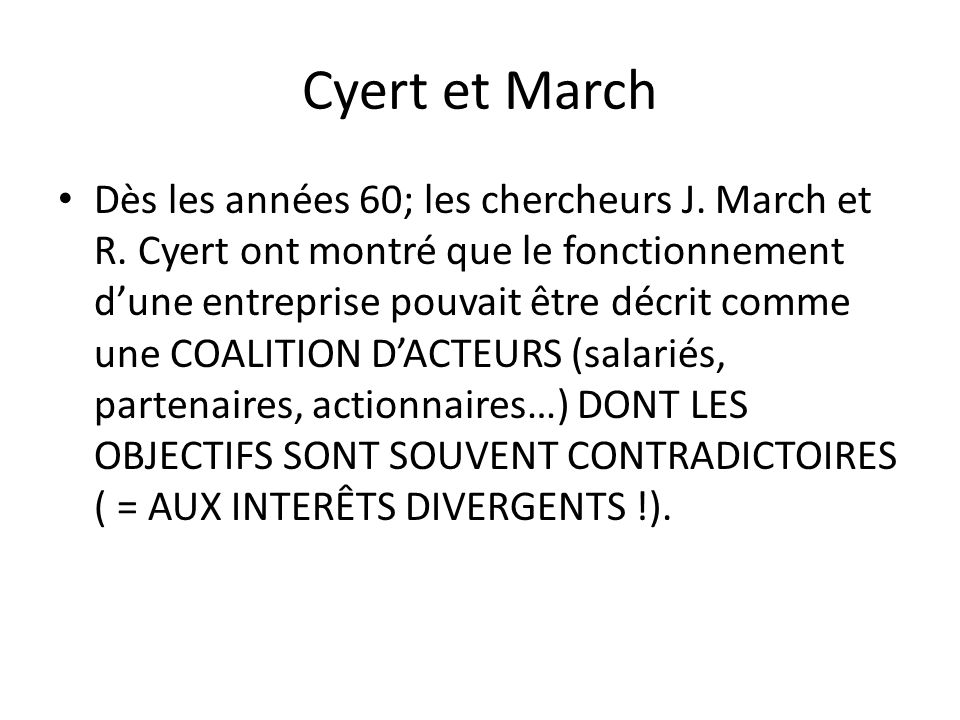 Cyert et March