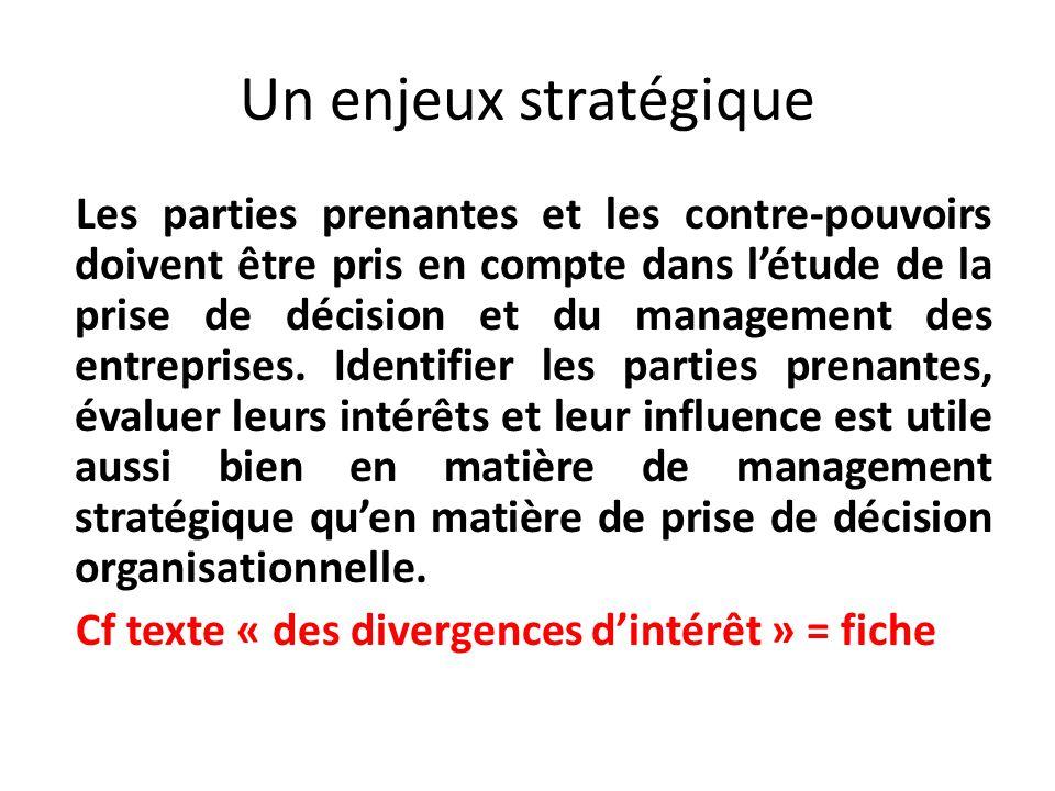 Un enjeux stratégique