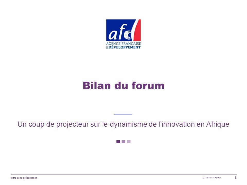 Un coup de projecteur sur le dynamisme de l'innovation en Afrique