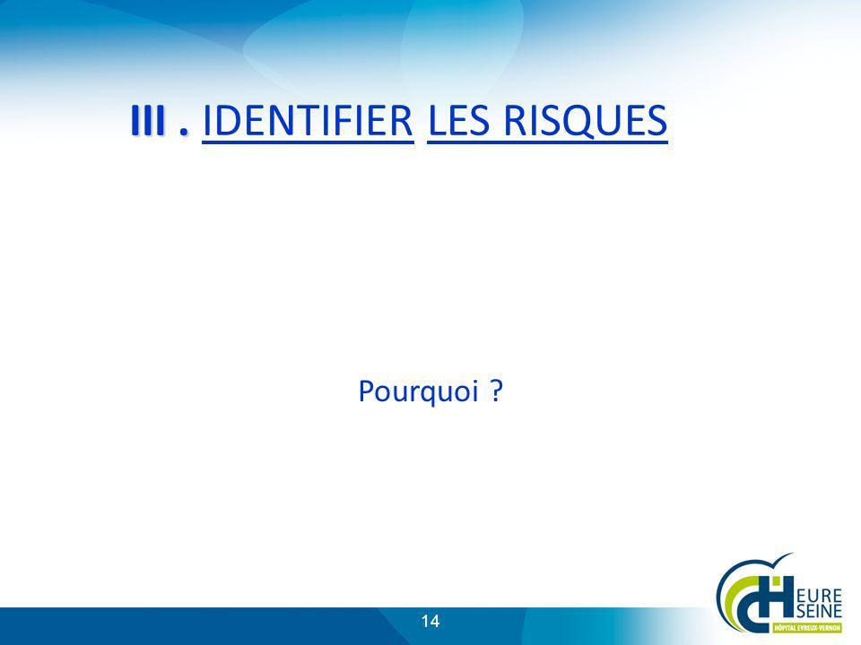 III . IDENTIFIER LES RISQUES