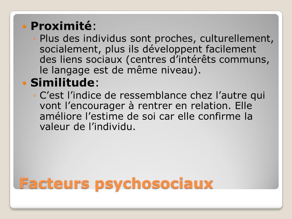 Facteurs psychosociaux