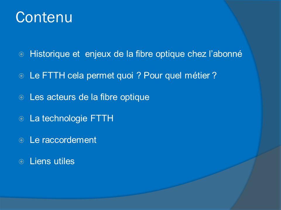 Contenu Historique et enjeux de la fibre optique chez l'abonné