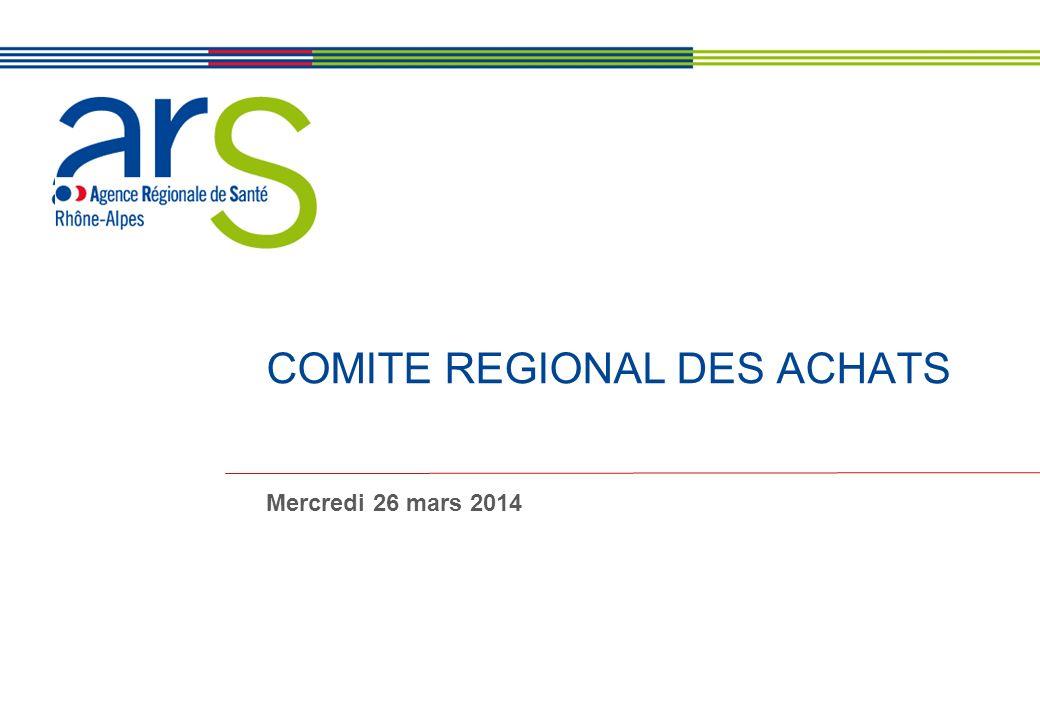 Ordre du jour du Comité Régional des Achats – Lyon – 26 mars 2014