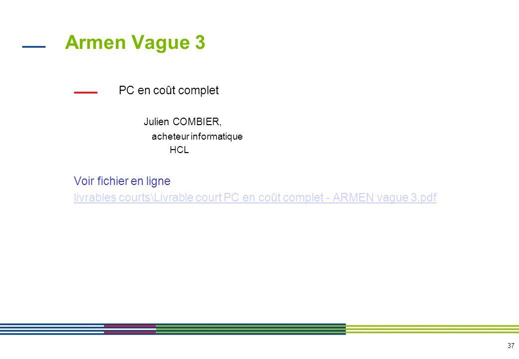 Armen Vague 3 Simplification processus achats SUD